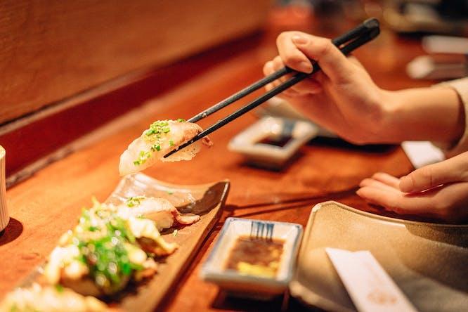 mooi servies voor sushi