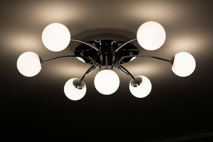 plafondlamp met bollen