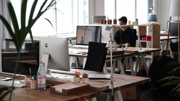 transparante kantoorinrichting
